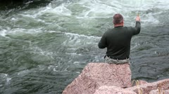 Fishing line hung up. Stock Footage