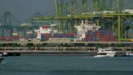 121 Industrial port in Singapore Stock Footage