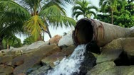 123 Ecological harm from the overflow pipe in Asia Stock Footage