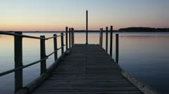 Sunset Dock - stock footage