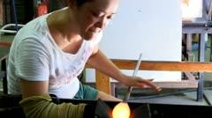 Stock Video Footage of Glass creativity
