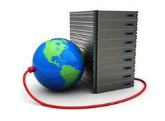 international hosting - stock illustration
