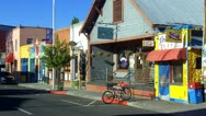 Stock Video Footage of Colorful Small Shops And Businesses On Flagstaff AZ Street