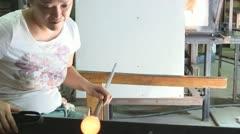 Stock Video Footage of Glass creativity; 2