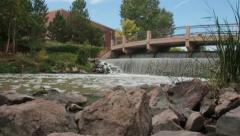 Pueblo, Colorado Riverwalk waterfall - stock footage