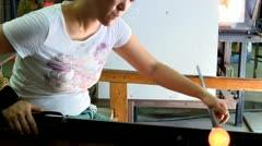 Stock Video Footage of Glass creativity; 3
