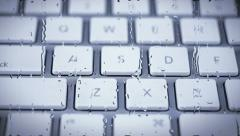 Keyboard - Left to Right with Water Pane Stock Footage