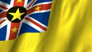 Stock Video Footage of Niue Waving Flag