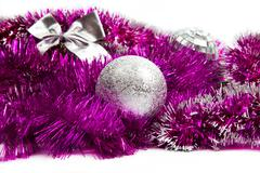 pink christmas decorations - stock photo