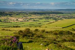View from Crook Peak in Somerset Stock Photos