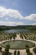 park of the palace of versailles - stock photo