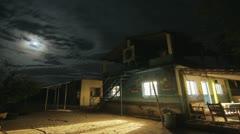 Timelapse House under stars Stock Footage