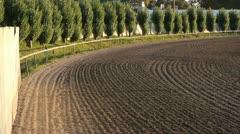 Horse Race track corner. Stock Footage