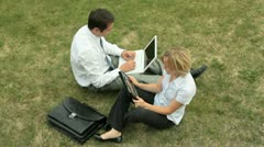 Open air office Stock Footage