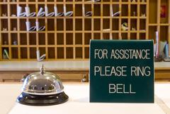 Ring bell for assitance Stock Photos