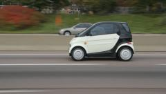 Smart car on highway. Stock Footage