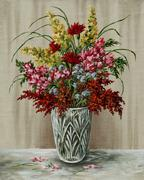 Bouquet in a crystal vase Stock Illustration