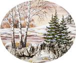 Winter siberian landscape Stock Illustration