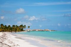 saona island beach 2 - stock photo