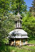 church dome in forest - stock photo