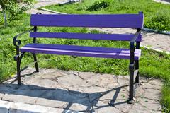 Stock Photo of violet bench