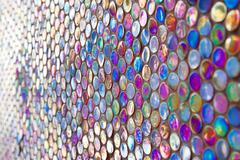 round glass mosaic pattern - stock photo