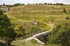 road near hotin castle - stock photo