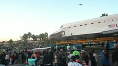 Shuttle Endeavour on Los Angeles Streets - stock footage