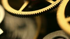 Stock Video Footage of Old watch inside spring and gears Macro Footage