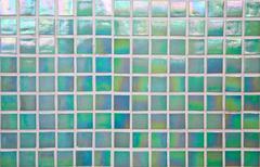 nacreous green mosaic tile - stock photo