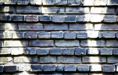 Stock Photo of black and white brick wall background