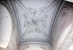 obsolete classical ceiling - stock photo
