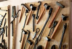 old working tools - stock photo