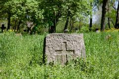 pagan prehistorical grave - stock photo