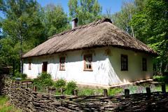 Ukrainian traditional hut Stock Photos