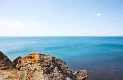 sea in crimea - stock photo