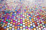 Stock Photo of round glass mosaic tile