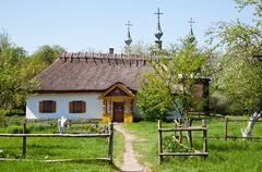 Ukrainian hut Stock Photos