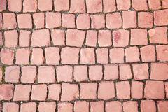 Brick red paving stone pattern Stock Photos