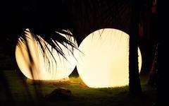 lighting shape at night - stock photo