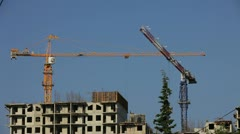 Stock Video Footage of Constructing a building