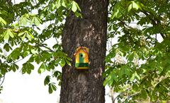 yellow nesting box - stock photo