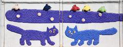 Kissat mosaiikki Kuvituskuvat