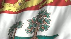 Prince Edward Island Waving Flag - stock footage