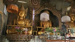 Buddha Inside Taung Tho Pagoda Stock Footage
