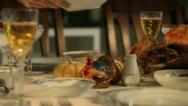 Turkey Dinner 1 Stock Footage
