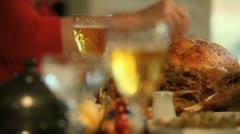 Turkey Dinner 4 Stock Footage