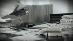 Lonley workspace Stock Footage
