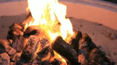 Campfire Flames 2 Stock Footage