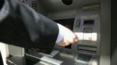Stock Video Footage of atm transaction 3